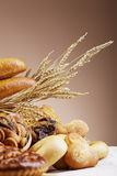 Different beads. Bakery foodstuffs. Shot in a studio Royalty Free Stock Photography
