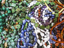 Different beads. Beautiful photo with Different beads Royalty Free Stock Images