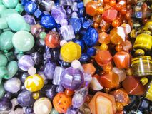 Different beads. Beautiful photo with Different beads Royalty Free Stock Photos
