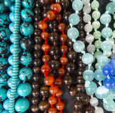 Different beads. Close-up. Top view Royalty Free Stock Photos