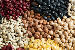 Different Bean seeds Stock Photo
