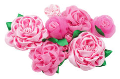 Different beautiful artificial flowers of handwork Stock Images