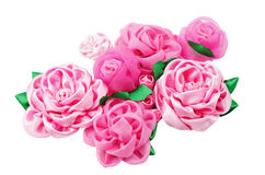 Different beautiful artificial flowers of handwork Stock Photo
