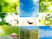Different beautiful landscapes Royalty Free Stock Images