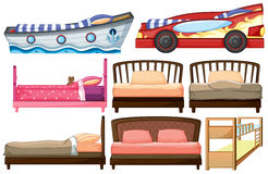 Different bed designs Royalty Free Stock Photo