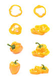 Different bell pepper compositions Royalty Free Stock Images
