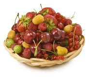 Different berries in a bowl d Royalty Free Stock Photos