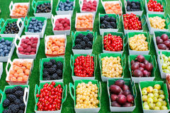 Different berries on market in south of France, Arles, Provence Royalty Free Stock Photo