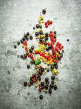 Different berries on the stone table. Stock Photography