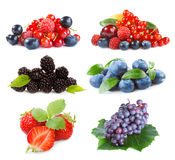 Different  berries on a white background Royalty Free Stock Photos