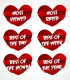 Different Best Of Red Abstract Heart Sticker Royalty Free Stock Images
