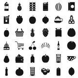 Different beverage icons set, simple style. Different beverage icons set. Simple style of 36 different beverage vector icons for web isolated on white background Royalty Free Stock Photos