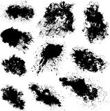 Different black spots vector Royalty Free Stock Photo