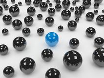 Different blue ball Stock Photography