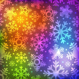 Different blue snowflakes set. Abstract background Royalty Free Stock Photography
