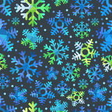 Different blue snowflakes set Stock Photos