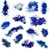 Different blue vector spots Royalty Free Stock Photos