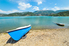 Different boat on Lake Turano Royalty Free Stock Photos