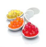 Different Boba Pearls Royalty Free Stock Images