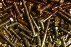 Different bolts royalty free stock photo