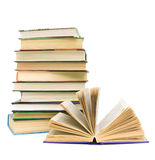 Book close up on white background Royalty Free Stock Photo