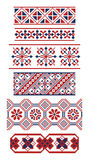Different borders of Russian ornaments Royalty Free Stock Photography