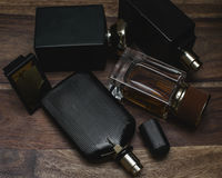 Different bottle of perfume Royalty Free Stock Photo