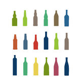Different bottles collection Royalty Free Stock Photos