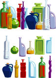 Different bottles isolated on white background Royalty Free Stock Photos