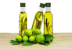 Different bottles of olive oil Royalty Free Stock Image