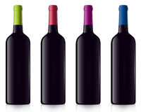 Different bottles of red Wine Stock Photo