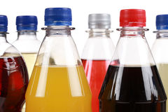 Different bottles with soda Royalty Free Stock Images