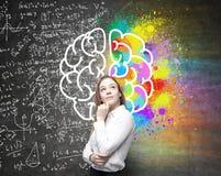 Different brain hemispheres Royalty Free Stock Photo