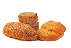 Different bread. Arranged on table close up Stock Photo
