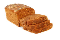 Different bread. Arranged on table close up Royalty Free Stock Photography