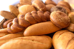 Different bread. In bucket close view Royalty Free Stock Photography