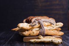 Different bread in studio Stock Photography