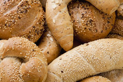 Different Breads and Rolls from Bakery Royalty Free Stock Images