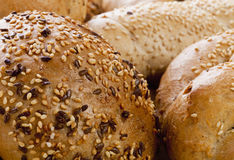 Different Breads and Rolls from Bakery Stock Images
