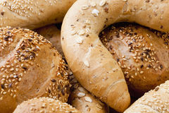 Different Breads and Rolls from Bakery Royalty Free Stock Photography