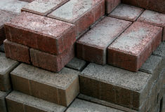 Different bricks. A stack of two diffrently colored bricks Royalty Free Stock Photography