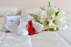 Different bride accessories Stock Photo