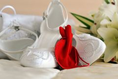 Different bride accessories Royalty Free Stock Images