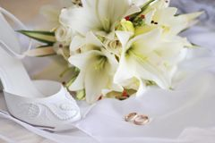 Different bride accessories Royalty Free Stock Image