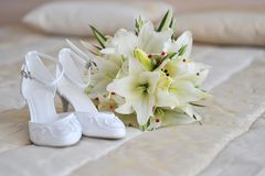 Different bride accessories Royalty Free Stock Photography
