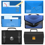 The different briefcases Stock Photography