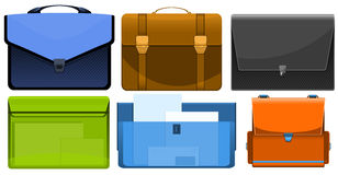 The different briefcases Stock Photo