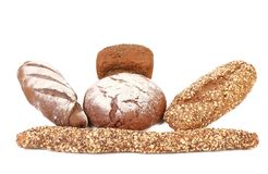 Different brown breads. Royalty Free Stock Photos
