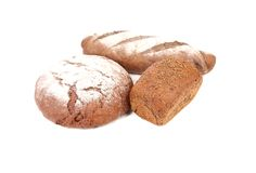 Different brown breads. Royalty Free Stock Image