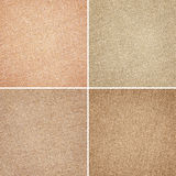 Different brown fabric textures Stock Photography